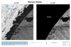 2006 vs. 2007 sea ice near Barrow, AK