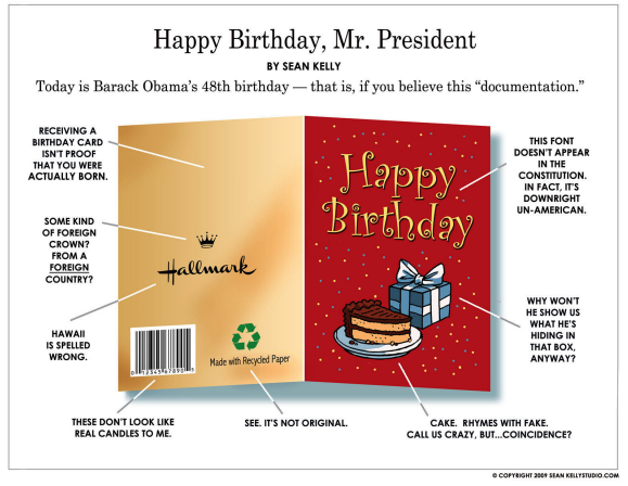 A so-called card for this so-called birthday