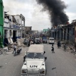 UN forces patrolling Port-au-Prince in the aftermath of the January 12 quake